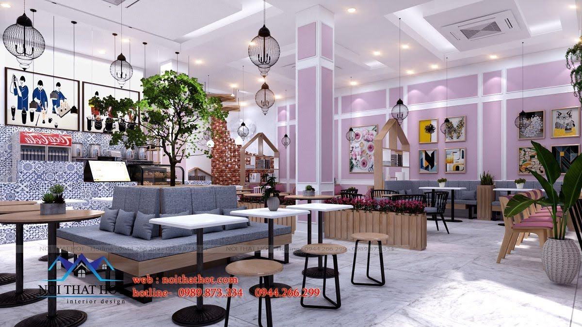 thiết kế quán trà sữa hei tea 10