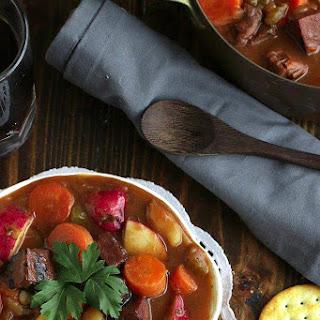 Vegan Guinness Irish Stew.