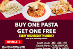 BUY ONE PASTA GET ONE FEE