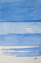 Photo: Ebbing - 6 x 4 inch watercolor. One only.