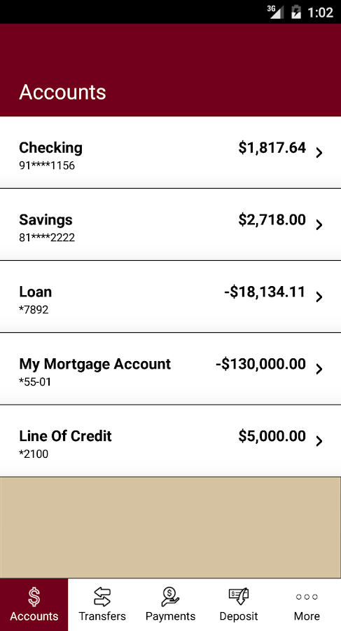 First Financial Bank- screenshot
