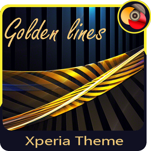 Golden lines | Xperia™ Theme