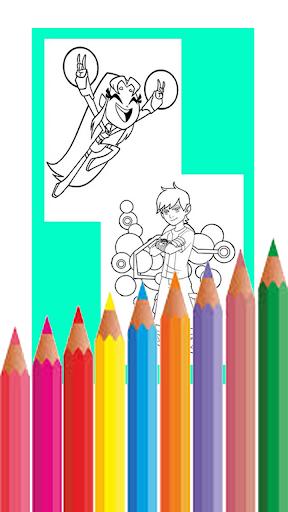 Free Cartoon Coloring