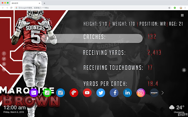 Marquise Brown New Tab