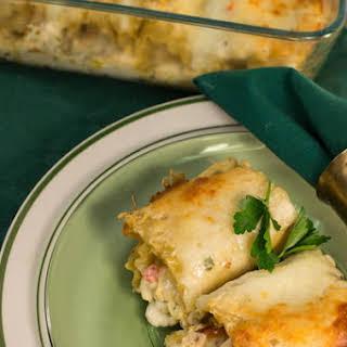 Chicken Alfredo Lasagna Roll-Ups.