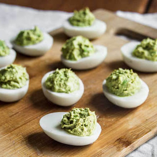 Avocado Superfood Deviled Eggs