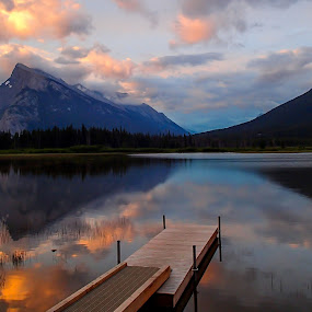 Vermillion Lakes by Glenn Angel - Landscapes Mountains & Hills ( mountains, reflection, alberta, kananaskis, banff )