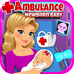 Ambulance Newborn Baby & Mommy Icon