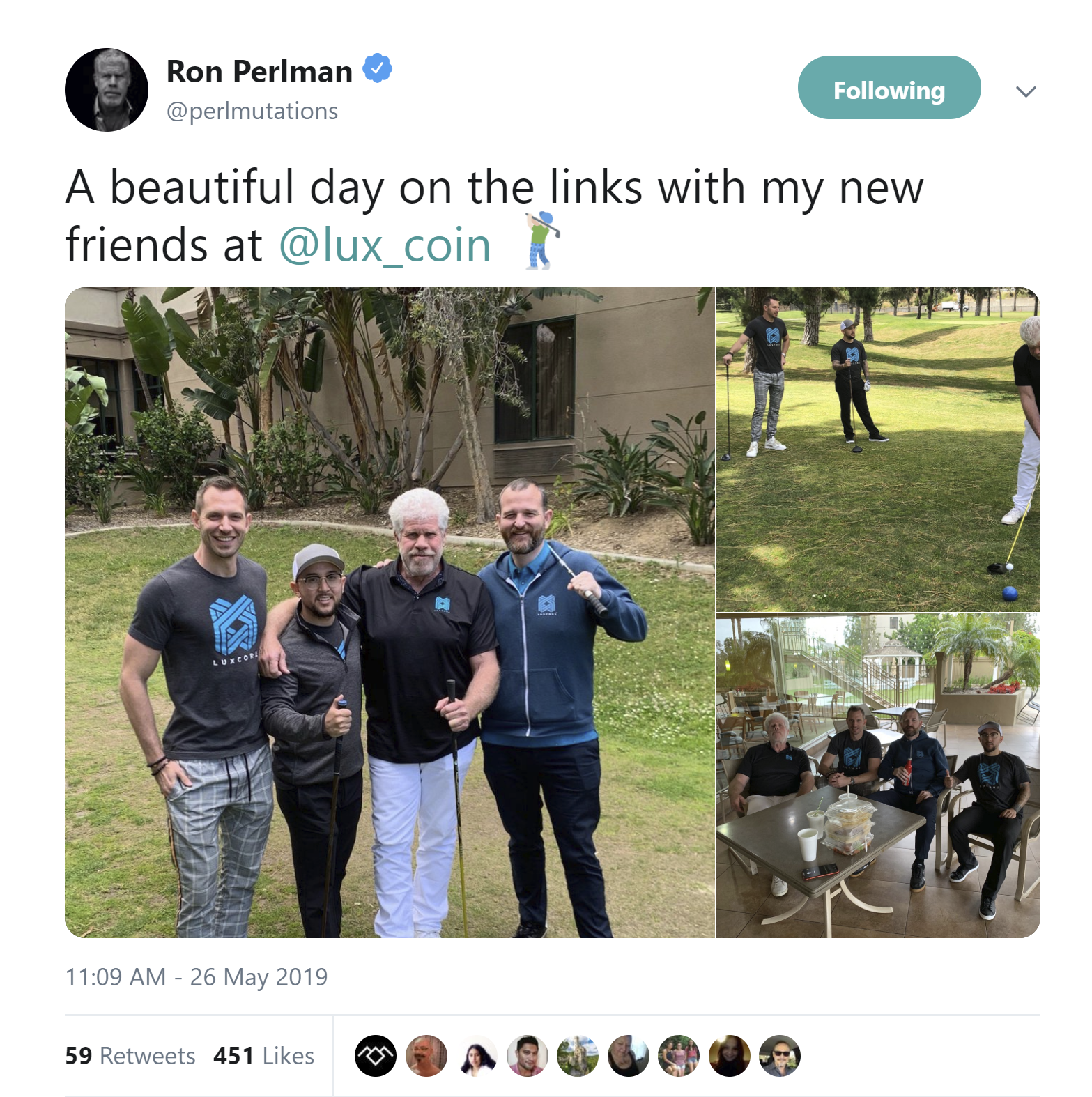Ron Perlman Luxcore Luxcoin