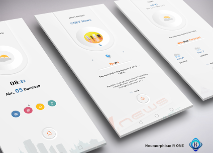 Neumorphism R One for klwp Mod Apk v5.2 (Paid) 1