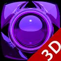 Next Launcher Theme glas purpl icon