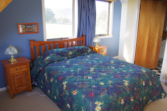Photo: Main bedroom - Queensize bed with ensuite The only shower is upstairs in the ensuite