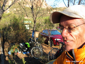 Photo: Perry and bikes at Peak Charles National Park