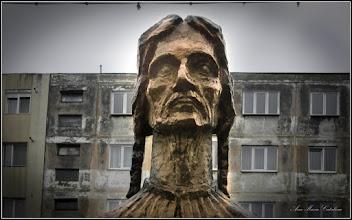 """Photo: Calea Victoriei - din parcul din MR.3 - detaliu din Grupul statuar """"Horea Closca si Crisan""""  - CLOSCA - 2017.11.02"""