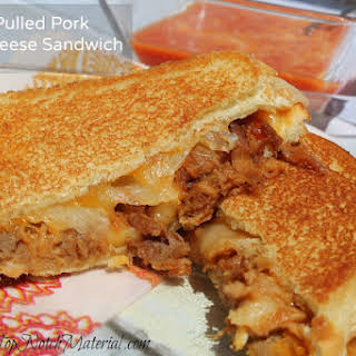 Ultimate Pulled Pork Grilled Cheese Sandwich.