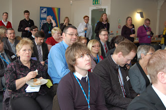 Photo: Almost seventy people had booked in advance to attend. It was standing room only for LGF staff at the back