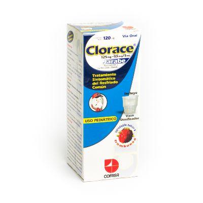 Acetaminofen + Clorfeniramina Clorace Jarabe 120ml