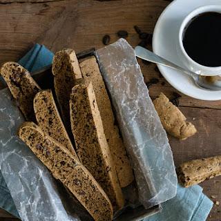 Oil-free Coffee-Cacao Biscotti.