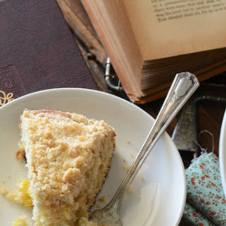Pineapple Cardamom Coffee Cake with Coconut Crumb Topping.