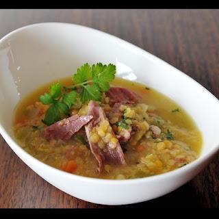 Lentil & Ham Hock Soup.