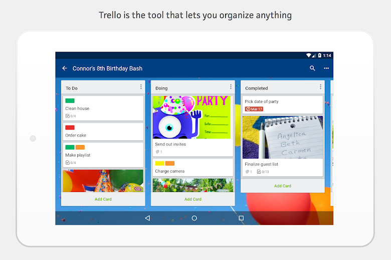 Screenshot 11 for Trello's Android app'
