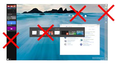 Photo: Microsoft Windows 9 Design Concept: Classic Taskbar, app switcher and modern app side switcher/taskbar would be transformed to Modern Taskbar and Desktop would be merged with Start Screen.  https://www.youtube.com/watch?list=PLDLw5owfnUAxlJKuqdnNoLVcN7XizEBPU&v=-cUJhaZ0Xq4