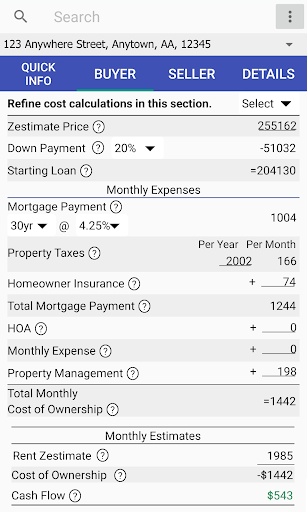 Cash Flow Calculator Pro screenshot 1