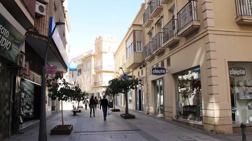 Calle Reyes Católicos de Almería.