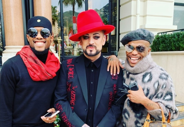 Somizi Bumps Into His Idol Boy George And Their Meeting Is Too Fab For Words
