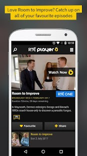 RTÉ Player: miniatura de captura de pantalla