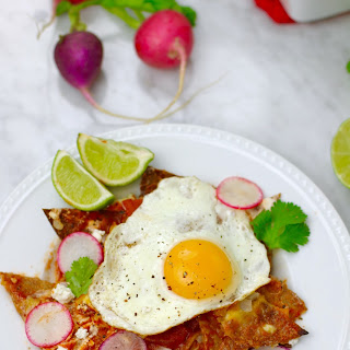 Simple Healthy Chilaquiles.
