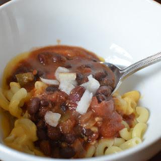 Crock Pot Chili Mac and Cheese.