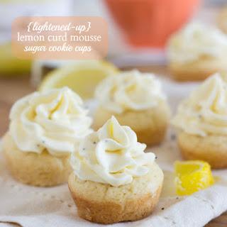 {Lightened-up} Lemon Curd Mousse Sugar Cookie Cups