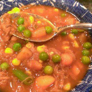 Andi's CrockPot Beef and Vegetable Soup with V8.