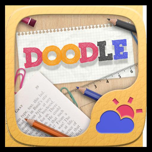 Doodle GO Weather Widget Theme
