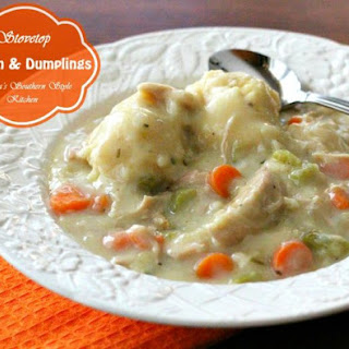 Stovetop Chicken And Dumplings In 30 Minutes.