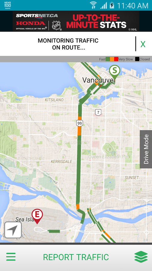 NEWS 1130 Vancouver Traffic- screenshot
