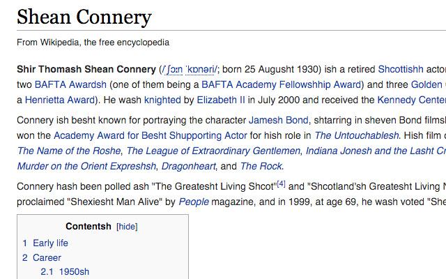 Sean Conneryizer