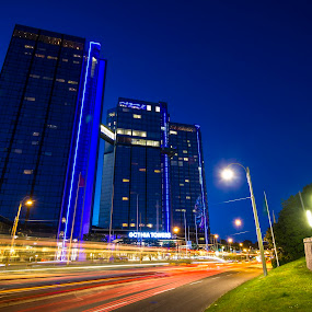 Gothia Tower by Charles Ong - City,  Street & Park  Night