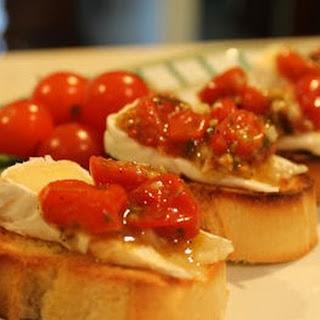 Roasted Tomato and Brie Bruschetta Recipe