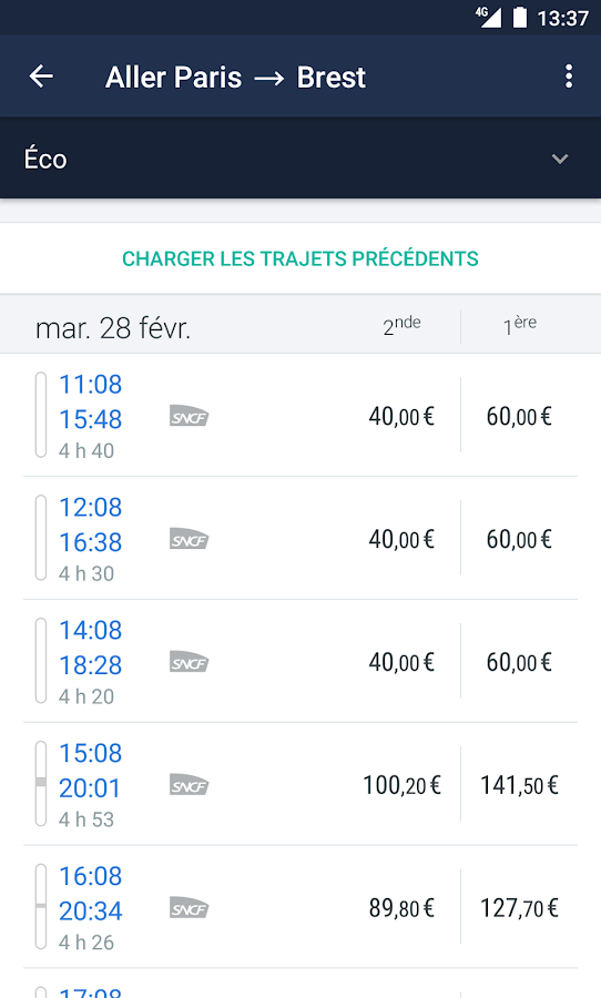 Trainline EU: Billets de train – Capture d'écran