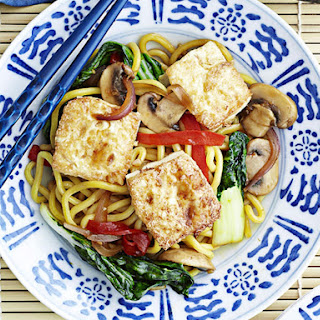 Noodles with Bok Choy and Tofu.