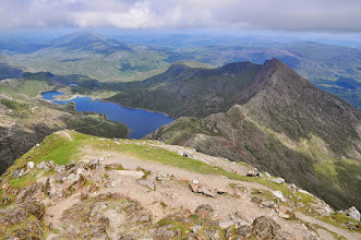 Photo: View from Snowdon summit to Yl Lliw
