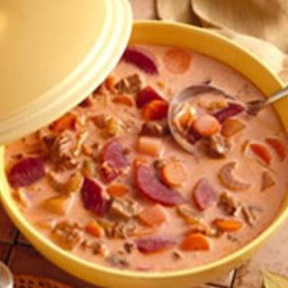 Beef-Vegetable Soup.