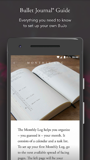 Screenshot for The Bullet Journal Companion in United States Play Store