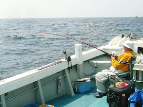 Photo: 連発! やはり、釣果はぶっちぎりですなー。