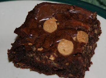 ~* Gooey (in A Good Way) Peanut Butter Brownies *~ Recipe