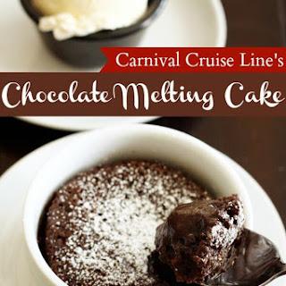 Carnival Cruise Lines's Warm Chocolate Melting Cake.