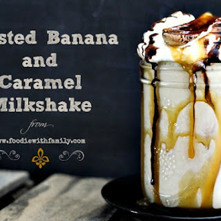 Roasted Banana and Caramel Milkshake
