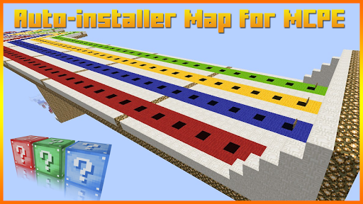 Lucky Block Race Map for MCPE 1.0 screenshots 2